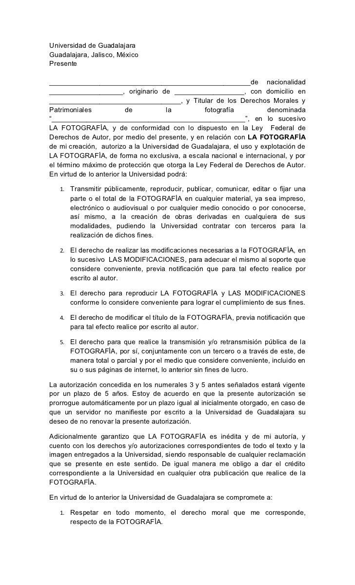 Universidad de GuadalajaraGuadalajara, Jalisco, MéxicoPresente____________________________________________________de nacio...
