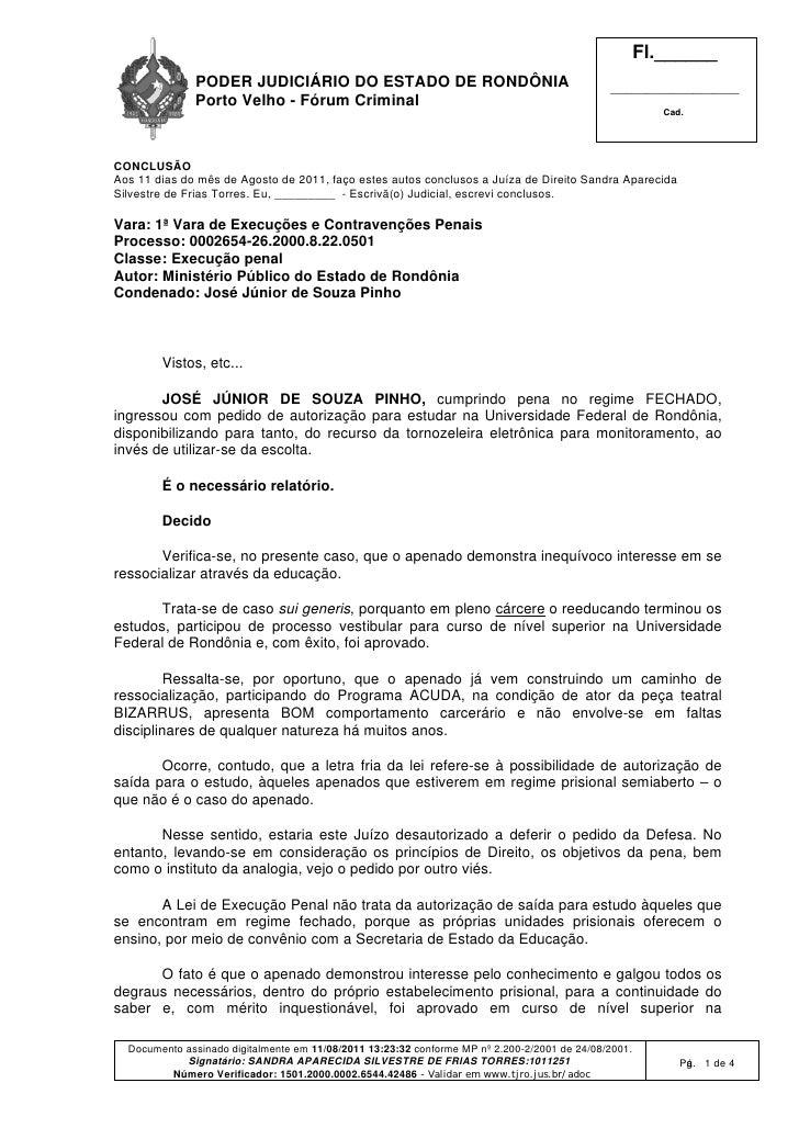 Fl.______              PODER JUDICIÁRIO DO ESTADO DE RONDÔNIA                                          ___________________...