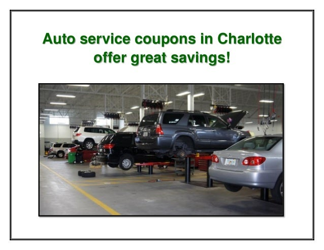 Auto service coupons in Charlotte offer great savings