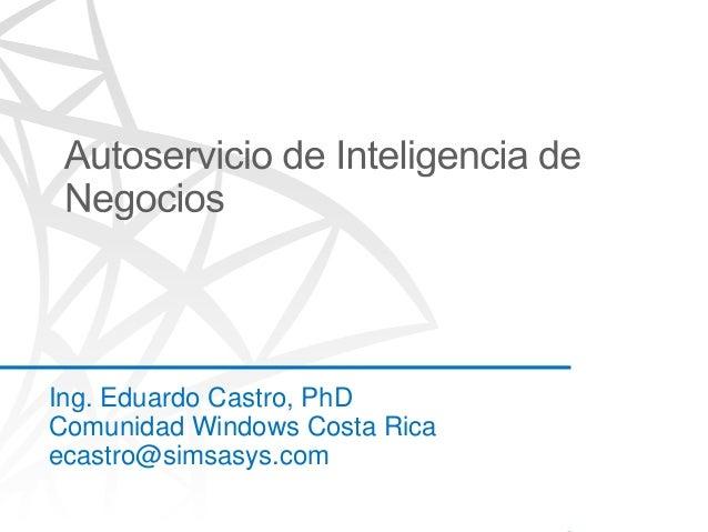 Autoservicio de inteligencia de negocios