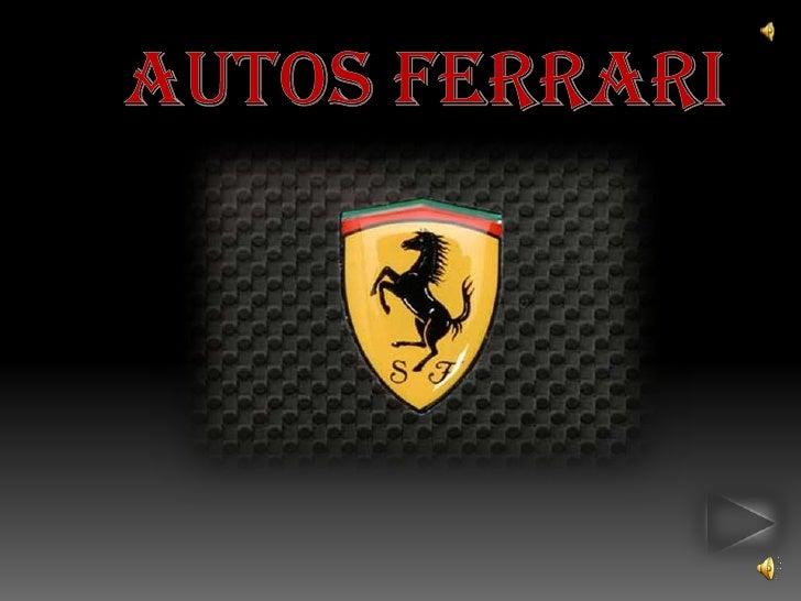 Autos Ferrari<br />