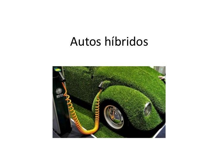 Autos híbridos
