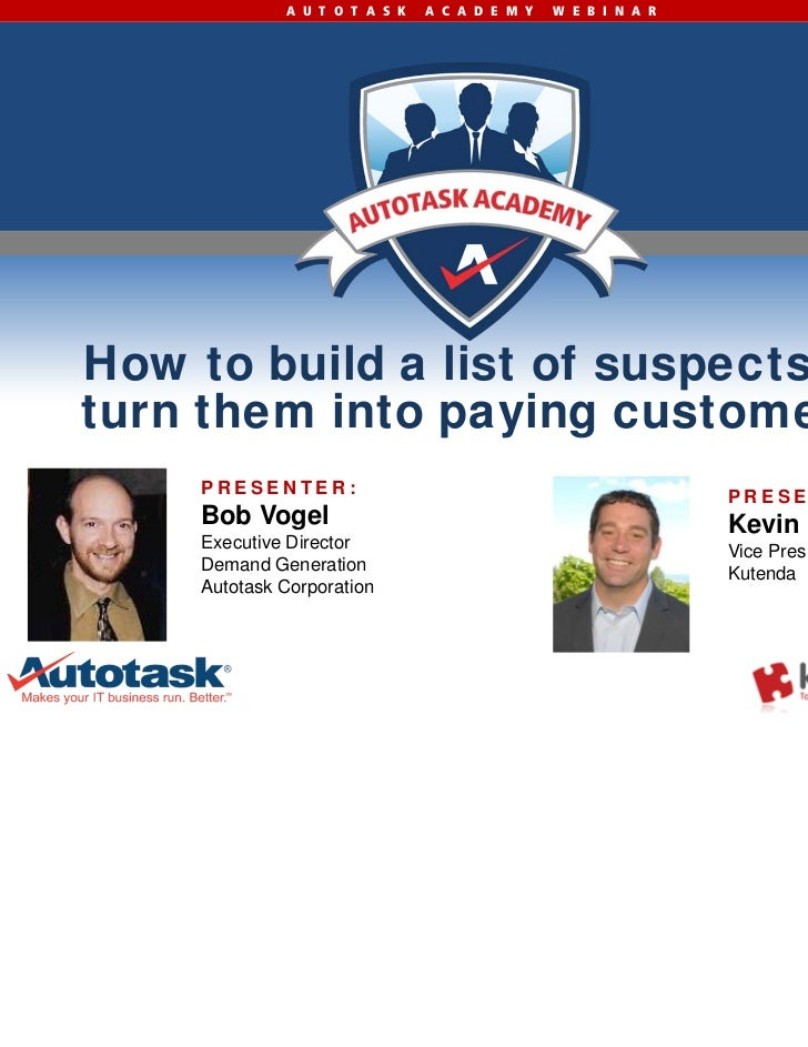 Marketing IT Services: How to Build a List of Suspects and Turn Them Into Paying Customers