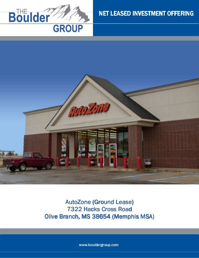 Ground Lease AutoZone for sale