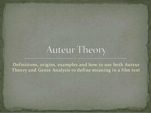 Autuer theory presentation