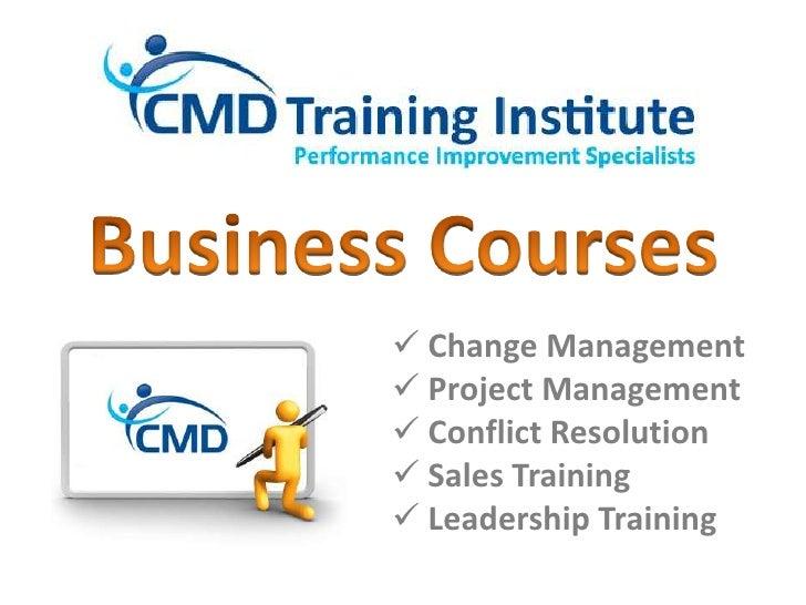CMD Training Institute: Business Courses [Autumn 2010]