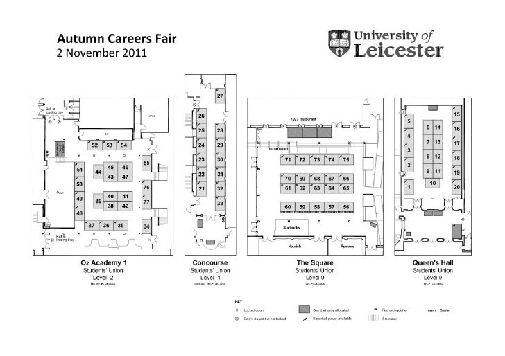Welcome	  to	  the	  Autumn	  Careers	  Fair	  2011	                           Queens	  Hall	  	                          ...