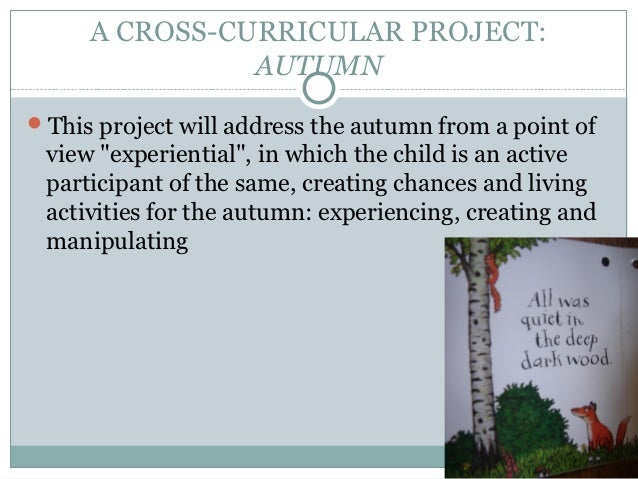 """A CROSS-CURRICULAR PROJECT:               AUTUMNThis project will address the autumn from a point of view """"experiential"""",..."""