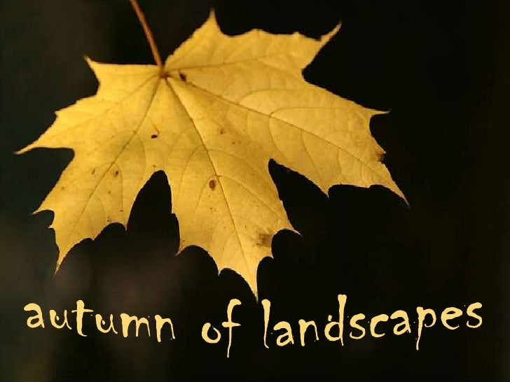 autumn of landscapes<br />