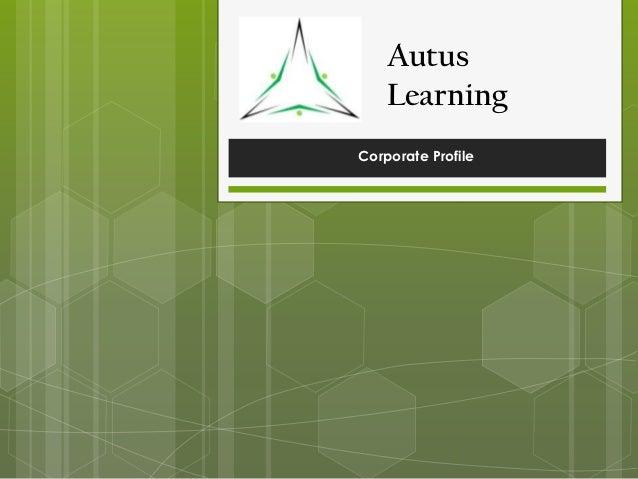 Autus Learning Corporate Profile