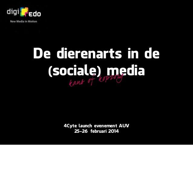 De dierenarts in de (social) media - kans of kopzorg