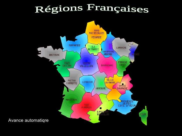 Régions Françaises Avance automatiqre