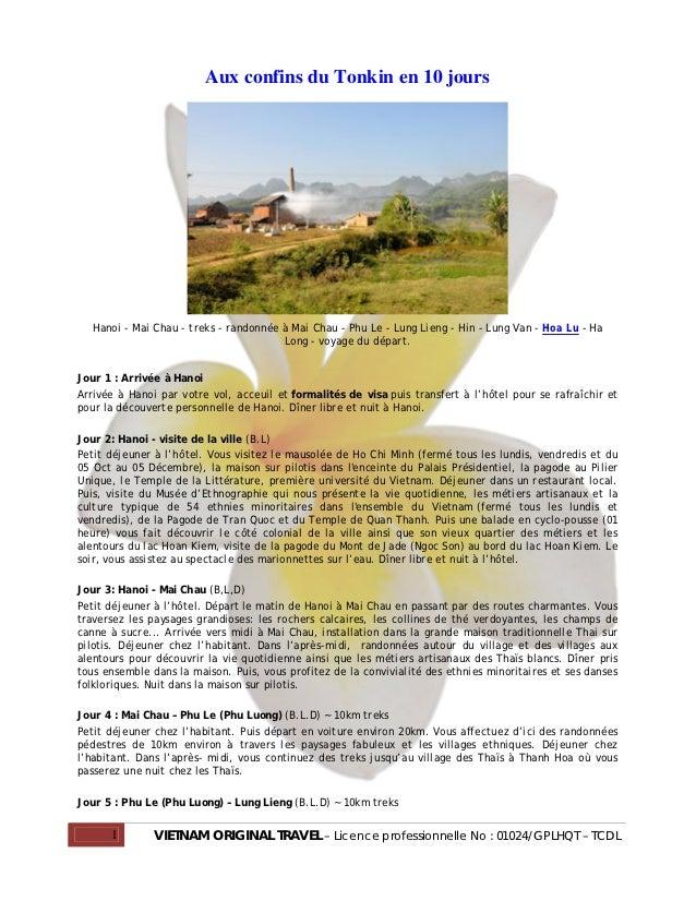 Aux confins du Tonkin en 10 jours  Hanoi - Mai Chau - treks - randonnée à Mai Chau - Phu Le - Lung Lieng - Hin - Lung Van ...