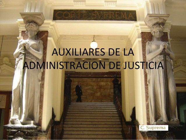 AUXILIARES DE LA ADMINISTRACION DE JUSTICIA
