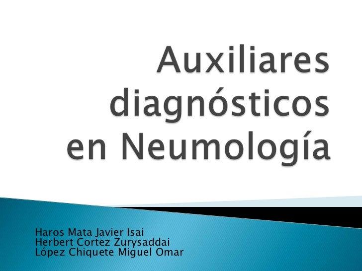 Auxiliares en el diagnostico de neumologia