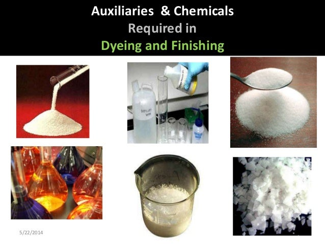 5/22/2014 1 Auxiliaries & Chemicals Required in Dyeing and Finishing