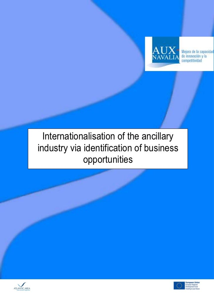 Internationalisation of the ancillaryindustry via identification of business             opportunities