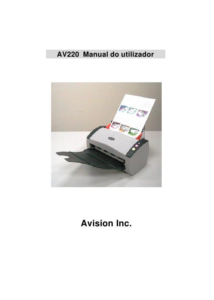 Manual Técnico do Scanner AVISION AV220