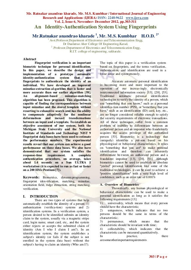 Mr. Ratnakar anandrao kharade, Mr. M.S. Kumbhar / International Journal of Engineering              Research and Applicati...