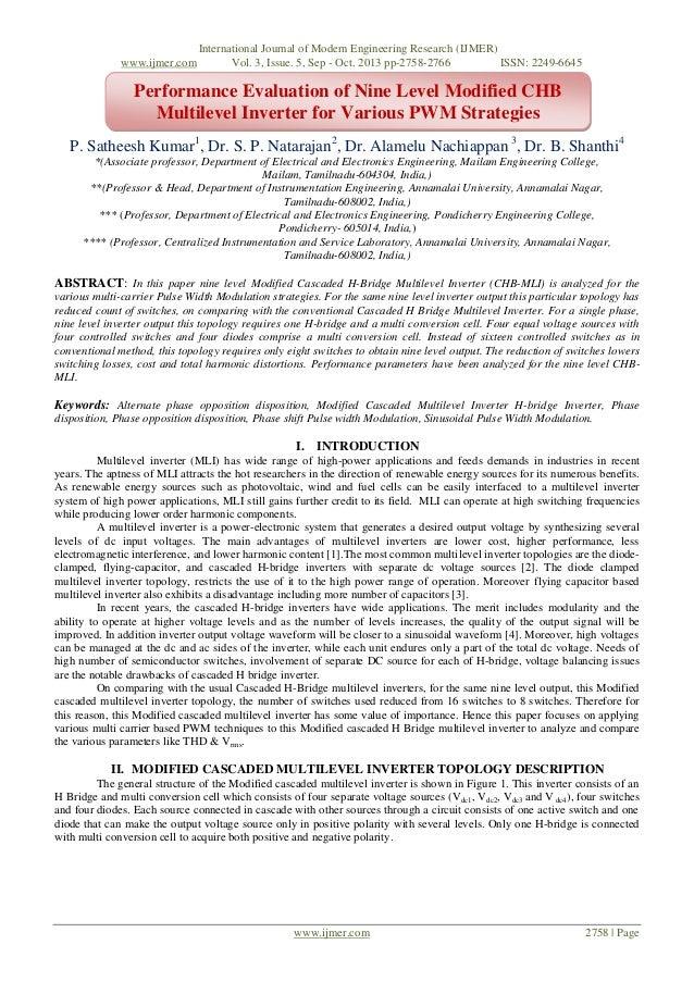www.ijmer.com  International Journal of Modern Engineering Research (IJMER) Vol. 3, Issue. 5, Sep - Oct. 2013 pp-2758-2766...