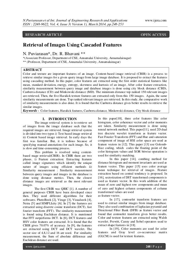 N.Puviarasan et al Int. Journal of Engineering Research and Applications www.ijera.com ISSN : 2248-9622, Vol. 4, Issue 3( ...
