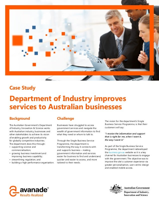 case study the donor services department By doing so, exports increase demand for local services through multiplier effects , creating a virtuous cycle of economic growth this means the while blacktown is the focus of this case study, this story is relevant to many councils across australia who have a high share of overseas-born population the research shows.