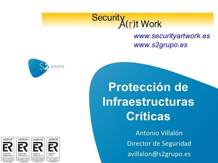 Protección de Infraestructuras Críticas