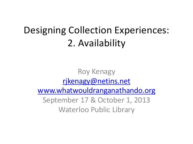 Designing Collection Experiences: Availability