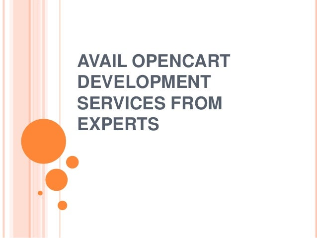 Avail Opencart Development Services from Experts