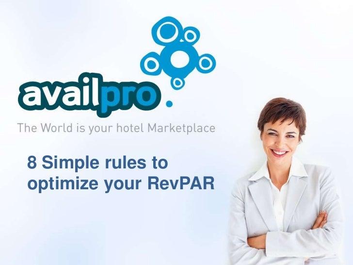 8 Simple rules tooptimize your RevPAR