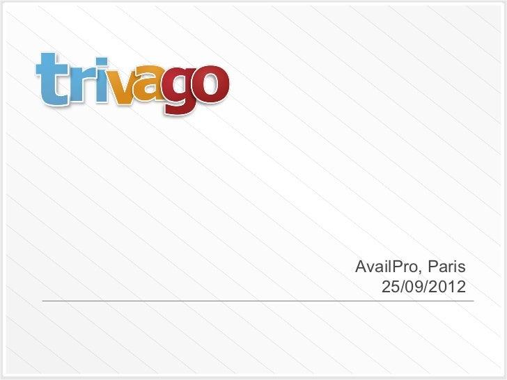 Présentation Trivago à la conférence Availpro