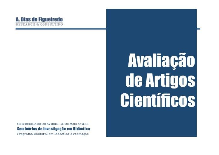 Avaliação de Artigos Científicos