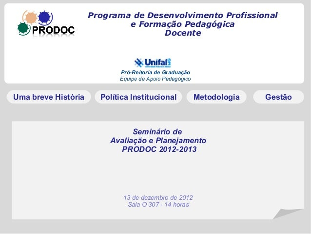 Avaliacao pidoc2012