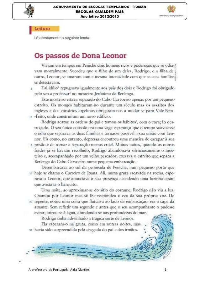 AGRUPAMENTO DE ESCOLAS TEMPLÁRIOS – TOMAR                              ESCOLAS GUALDIM PAIS                               ...