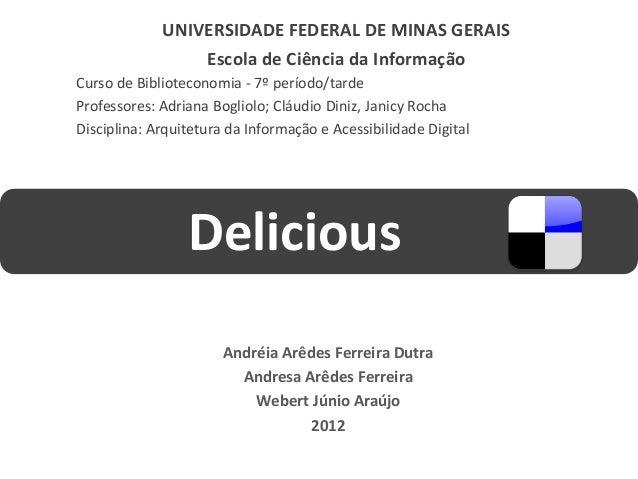 UNIVERSIDADE FEDERAL DE MINAS GERAIS                 Escola de Ciência da InformaçãoCurso de Biblioteconomia - 7º período/...