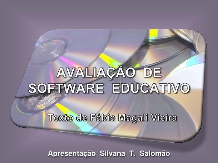 Apresentação Silvana T. Salomão