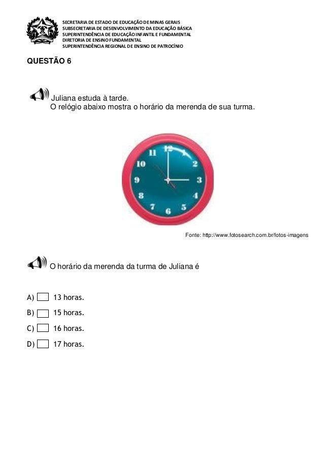 Avaliação  diagnostica 3º ano  c. a   matematica - 2013