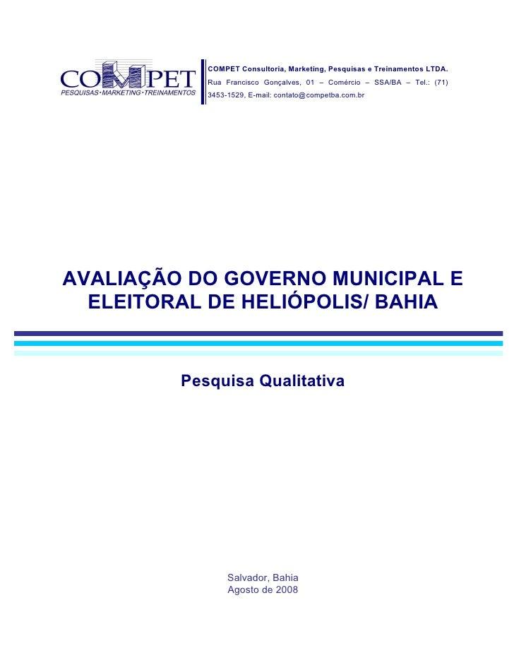 Avaliação Municipal