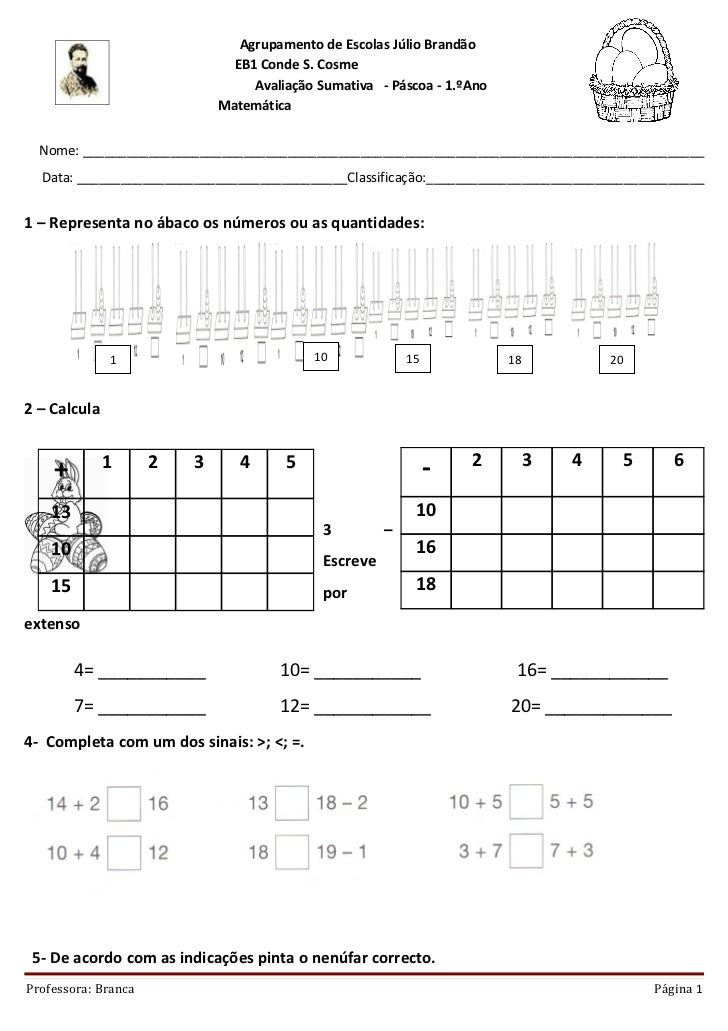 Agrupamento de Escolas Júlio Brandão                               EB1 Conde S. Cosme                                  Ava...