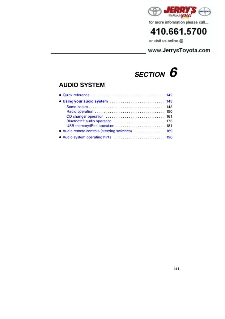 AUDIO SYSTEM                                                                    SECTION                        6AUDIO SYST...