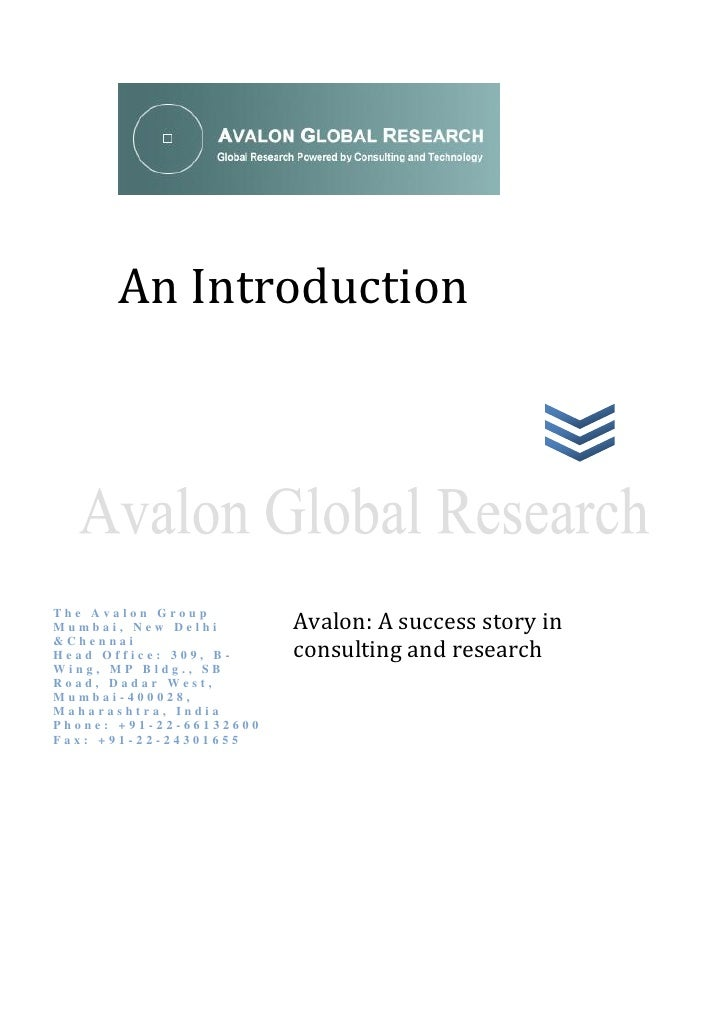 Avalon Global Research (India)