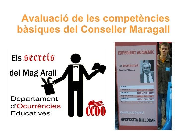 Avaluació Competències bàsiques Conseller Maragall
