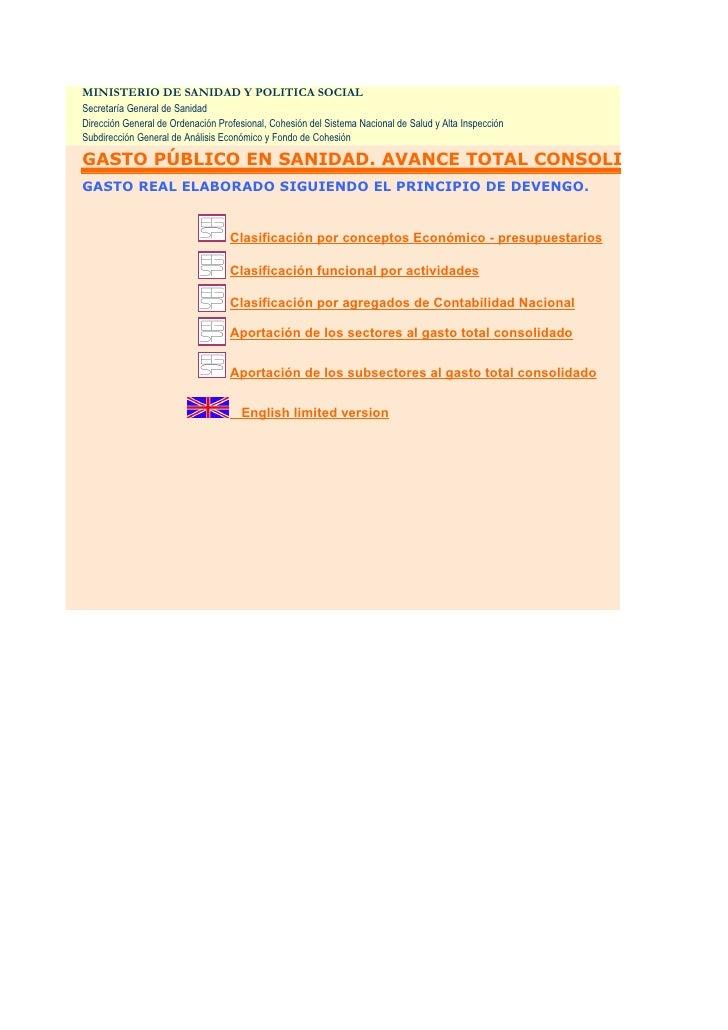 Avance Gasto Sanitario Público SNS 2002-2007