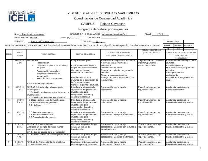 VICERRECTORIA DE SERVICIOS ACADEMICOS                                                                        Coordinación ...