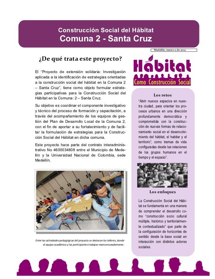Construcción Social del Hábitat                     Comuna 2 - Santa Cruz                                                 ...