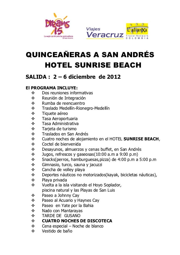 Avance san andres hotel sunrise diciembre 2012