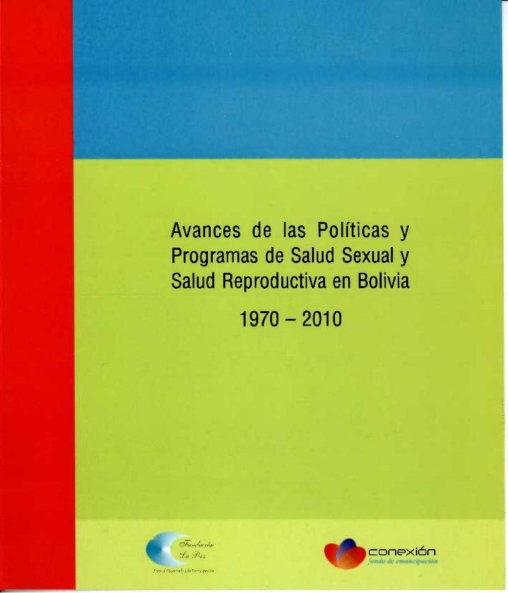 Avances politicas publicas en salud sexual y reproductiva 1970 2010 FUNDACION LA PAZ