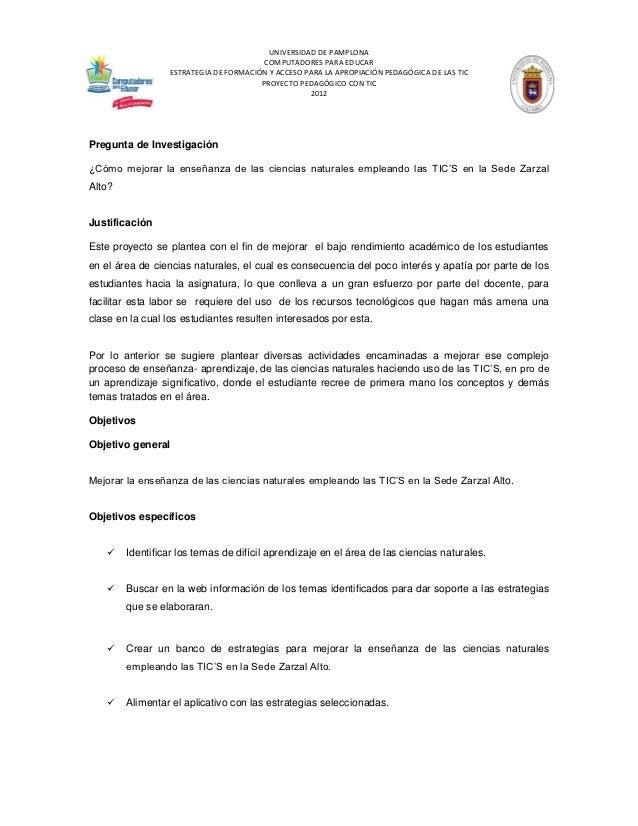 UNIVERSIDAD DE PAMPLONA                                        COMPUTADORES PARA EDUCAR                 ESTRATEGIA DE FORM...