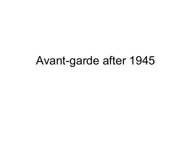 Avant-garde after 1945