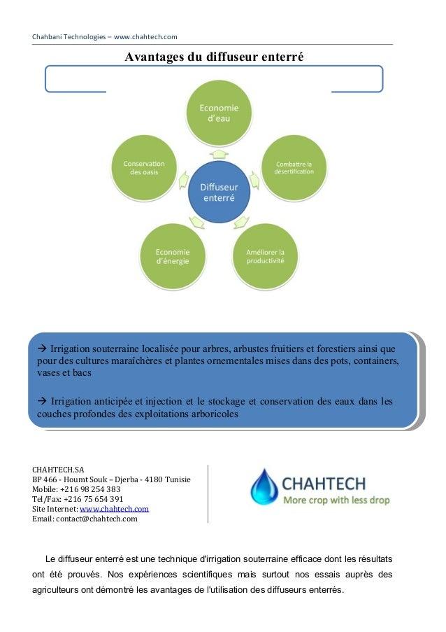 Chahbani Technologies – www.chahtech.comCHAHTECH.SABP 466 - Houmt Souk – Djerba - 4180 TunisieMobile: +216 98 254 383Tel/F...